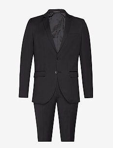 Karl Suit - single breasted suits - black