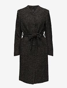 Grivelle Helga Coat - wool coats - black/white