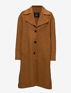 Oda Ida Coat - wool coats - spicy mustard