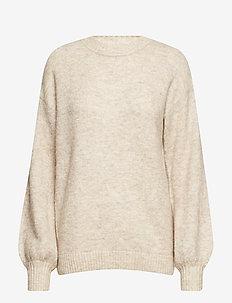 Alma Ulrikke Pullover - jumpers - ginger beige