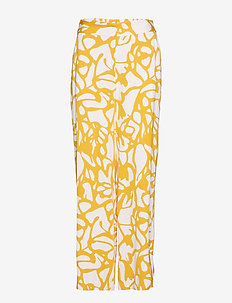 Grid Filucca Pant - straight leg trousers - grid artwork