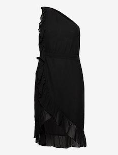 Rosalina Kendra Dress - wrap dresses - black