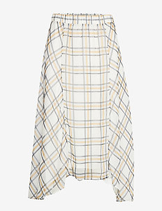 Check Kate Skirt - SNOW WHITE CHECK