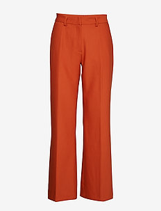 Cindy Manella Pant - wide leg trousers - brown rust