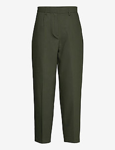 Cindy Dagny Pant - straight leg trousers - deep forest