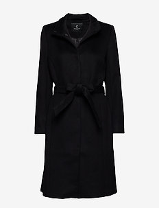 Jasmin Greta Coat - BLACK