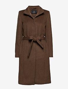 Jasmin Greta Coat - wool coats - old sand