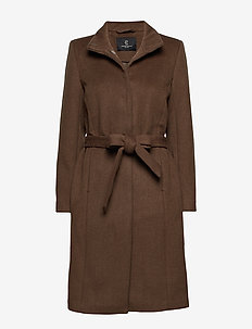 Jasmin Greta Coat - manteaux en laine - old sand