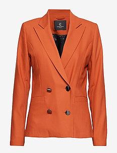 Cindy Caya Blazer - blazers - brown rust