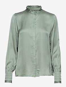 Baume Elizabeth Blouse - long sleeved blouses - jade green