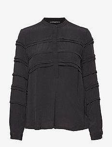 Lilli Deena Blouse - long sleeved blouses - black