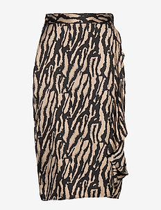 Tree Violis Skirt - BLACK/DESERT SAND ARTWORK