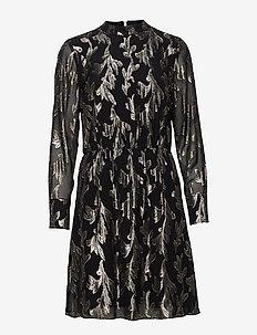 Laurett Adabelle dress - BLACK/GOLD