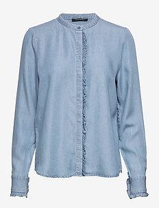 Laera Sari Shirt - chemises à manches longues - dawn blue