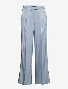 Sofia Telma pant - wide leg trousers - blue mist
