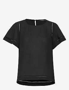 Camilla Olive blouse - blouses à manches courtes - black