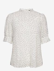 Novas sade blouse - blouses med korte mouwen - snow white
