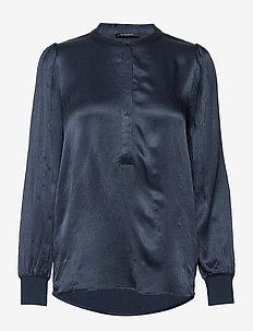 Cilla Nele shirt - blouses à manches longues - night sky