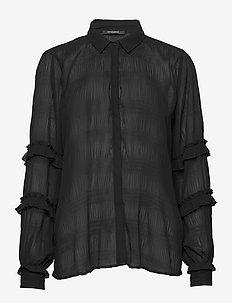 Justina Boletta shirt - blouses à manches longues - black