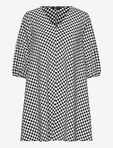 Seer Allure dress - short dresses - black/white check