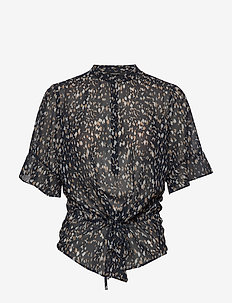 Haze Beatrice shirt - kortermede bluser - night sky