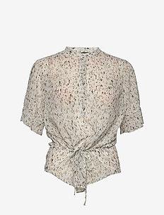 Haze Beatrice shirt - blouses à manches courtes - snow white