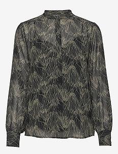 Draw Meg shirt - blouses à manches longues - haze artwork