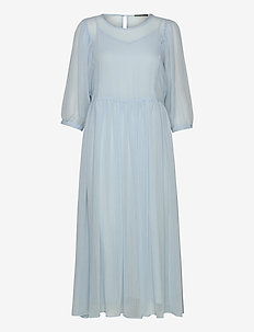 Cloudy Lux dress - robes midi - dream blue