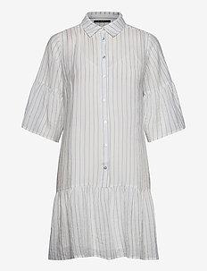 Vickie Bally shirt dress - shirt dresses - dream blue/white stripes