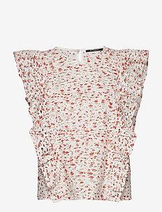 Mist Hallie blouse - blouses med korte mouwen - mist artwork