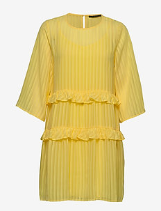 Ellora Kristelle dress BZ - kort kjoler - lemon drop