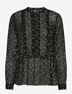 Dotta Aleqa blouse - long sleeved blouses - dotta artwork black