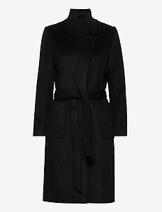 Jasmina Perle coat - ullkåper - black