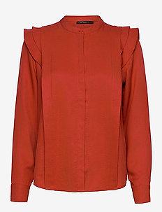 Pralenza Haylin shirt - langärmlige hemden - brick red