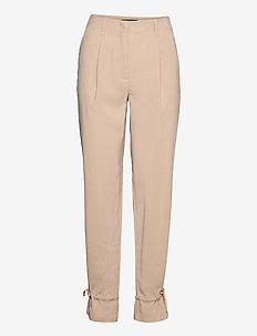 Lucille Mavis pant - raka byxor - roasted grey khaki