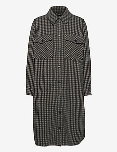 Silja Ilia jacket - uldfrakker - black check