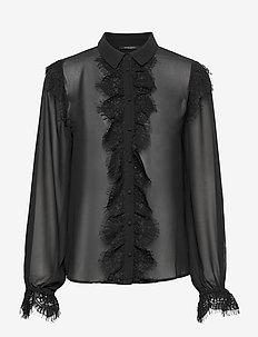 Vannes Maris shirt - long-sleeved shirts - black