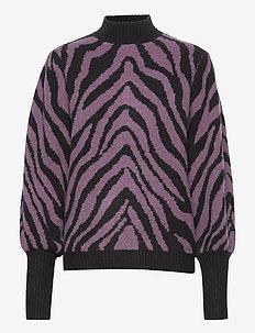 Cheryl Grace knit - pullover - purple sky