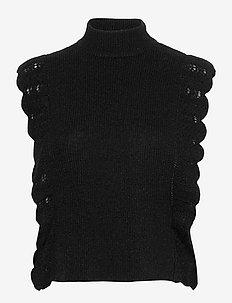 Parisa Esti knit vest - gestrickte westen - black
