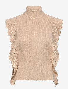 Parisa Esti knit vest - gestrickte westen - roasted grey khaki