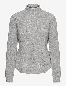 Parisa Neav knit - rullekraver - light grey
