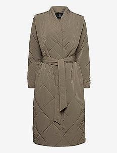 Hyacinth Joanne coat - padded coats - bungee brown