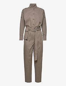 Basil Heath jumpsuit - buksedragter - bungee brown