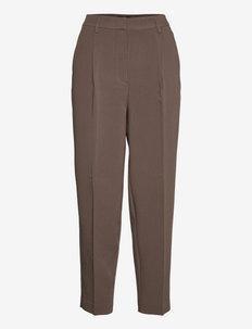 CindySus Dagny pants - bukser med lige ben - major brown