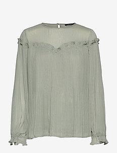 Senna Calla blouse - pale aqua