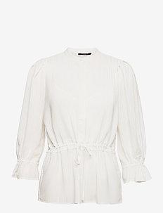 Kalatea Baz shirt - langærmede bluser - snow white