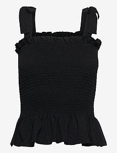 Carla Anna top - Ærmeløse bluser - black