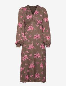 Prickly P Lerka dress - sukienki letnie - dark floral print