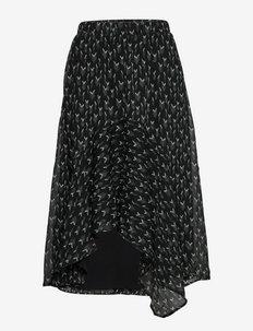 Vervain Marilyn (Cira) skirt - midi - black  print