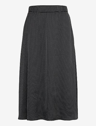 Acacia Violetta skirt - midi nederdele - black aop
